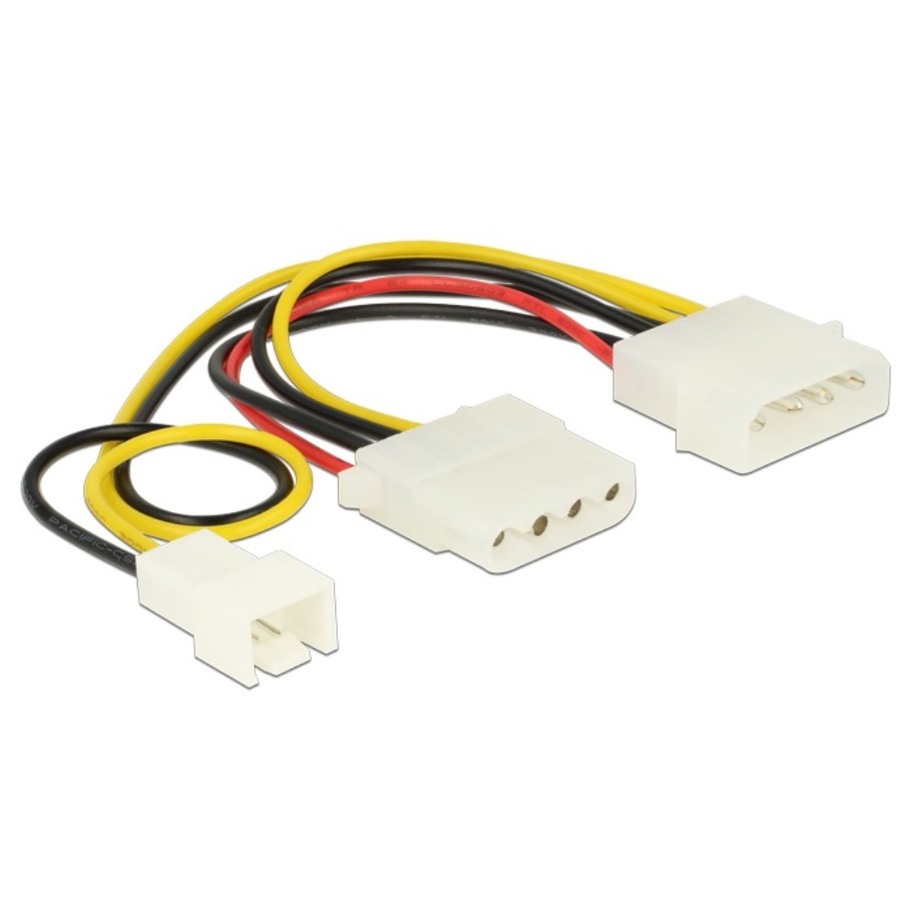 Delock Power Cable Molex > Molex + 3pin Fan 14.5cm (83658)