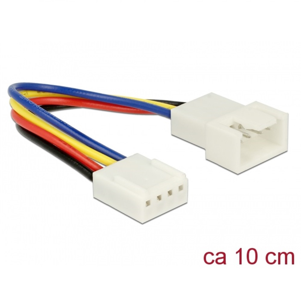 Delock PWM Fan Extension Cable 4pin 10cm (85360)